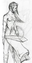 warrior girl sketch