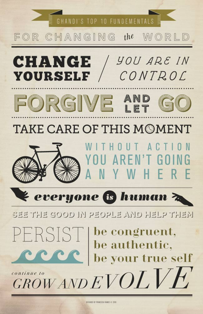 ghandi's top 10 for changing the world